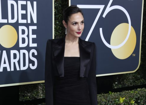 Gal Gadot, 75th Annual Golden Globe Awards, Arrivals (Photo: REX/Shutterstock 9307701tn)