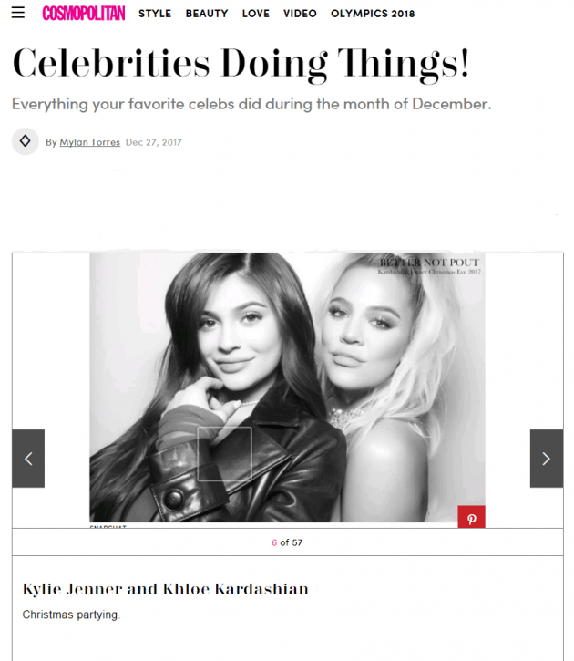 Kylie Jenner and Khloe Kardashian, Cosmopolitan (Pic: Screen Shot)