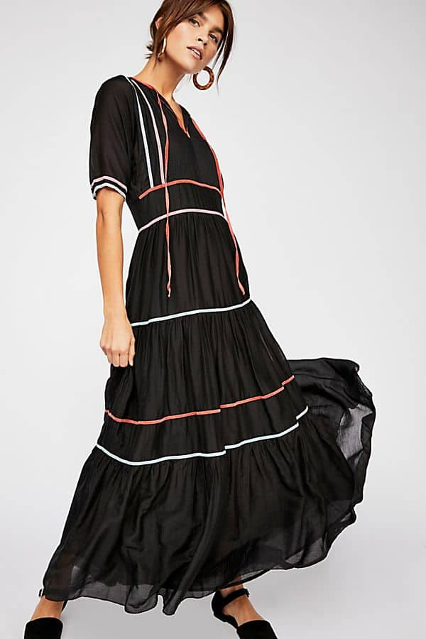 Free People Black Maxi Dress